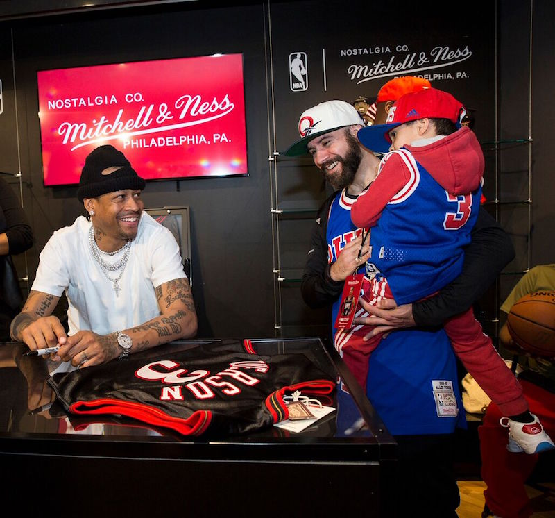 7bbfd64f151 Allen Iverson Teamed Up With a Mitchell   Ness NBA Store fan